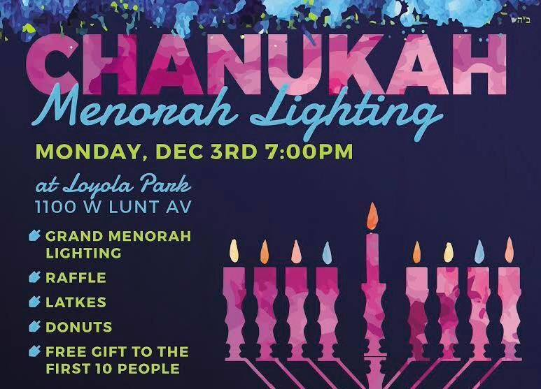 Chabad of Lakeview Chanukah Menorah Lighting