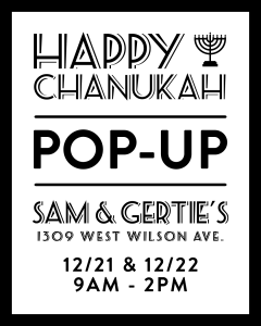 chitribe sam and gerties pop up