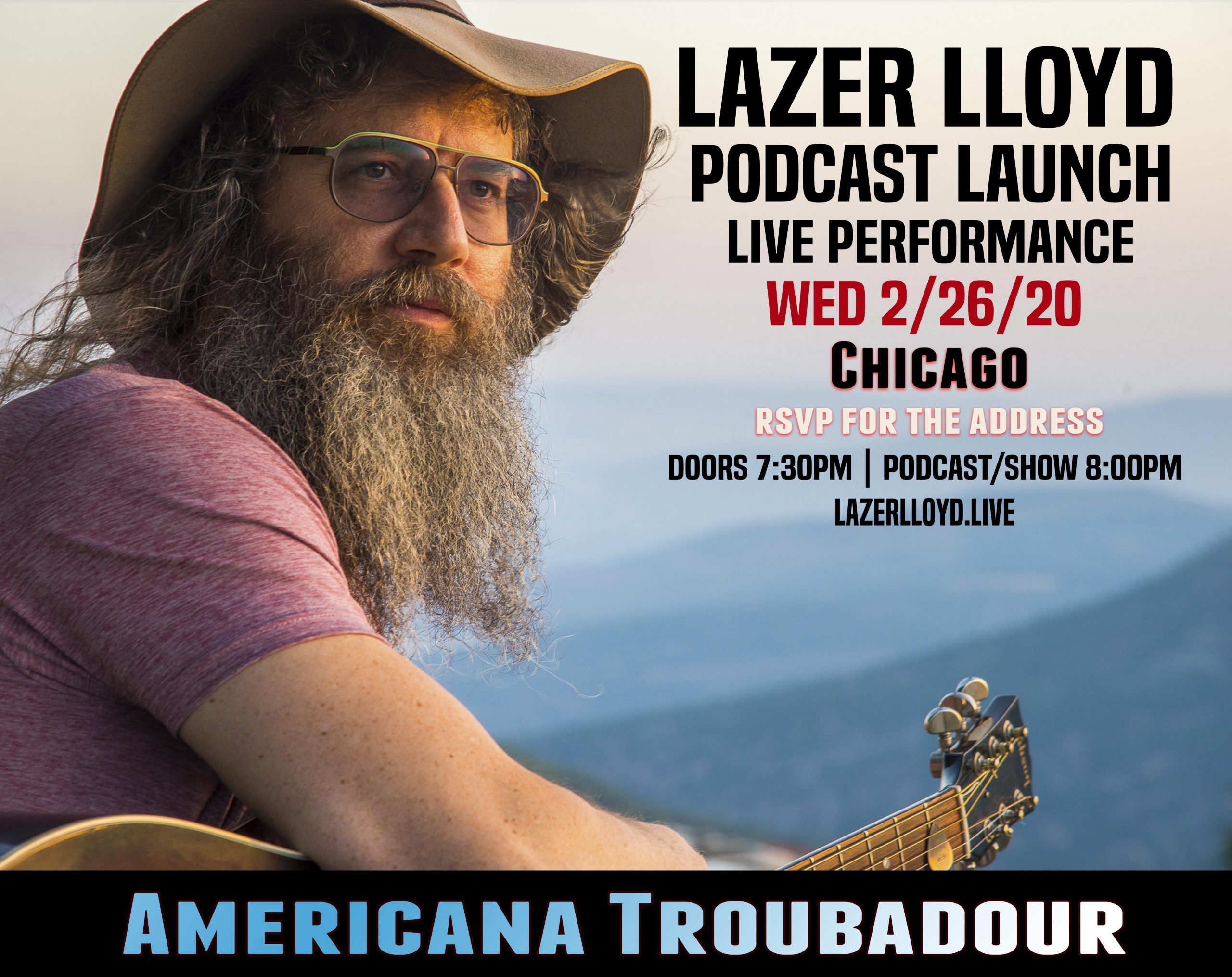 chitribe Lazer Lloyd in town from Israel on Feb 26th Wed