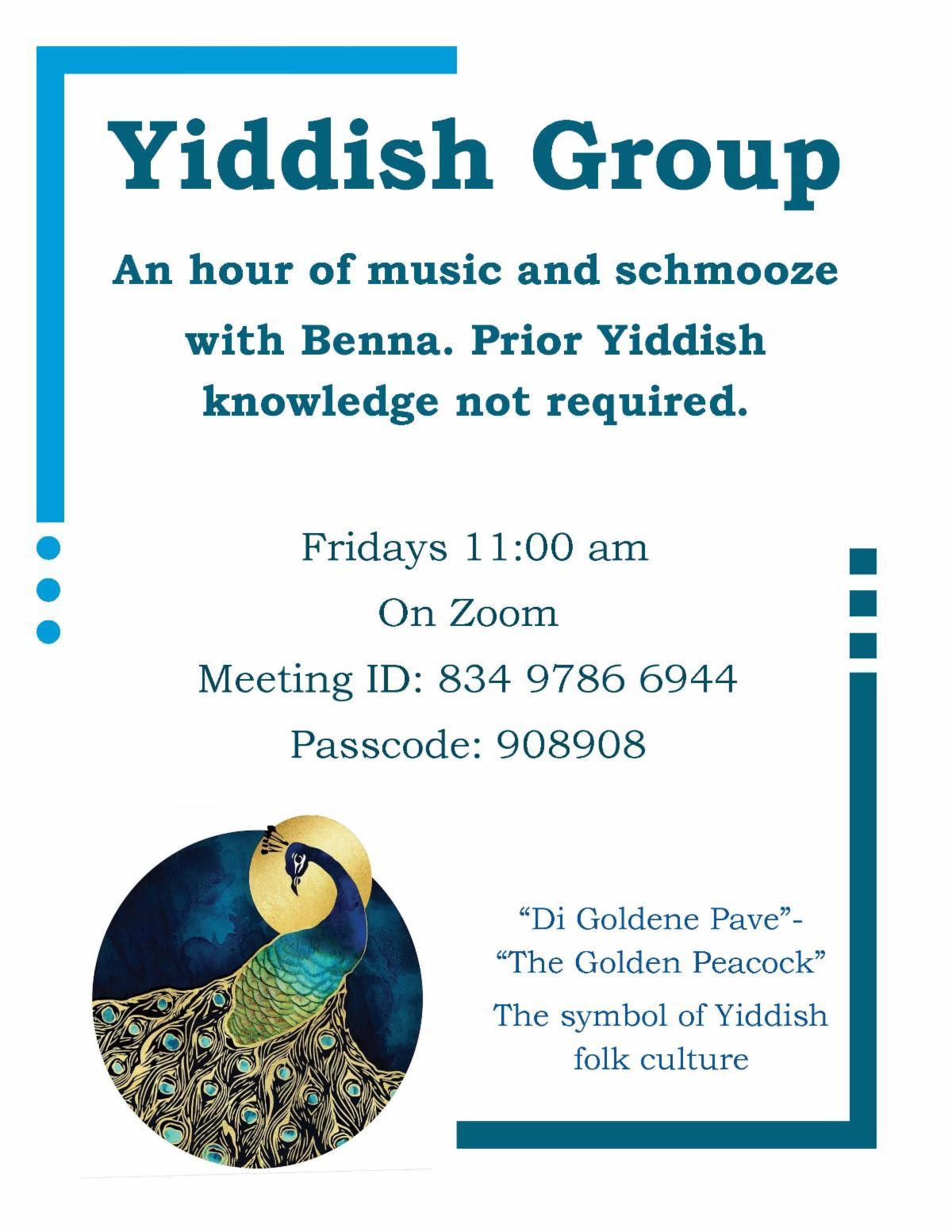 yiddish class selfhelp home