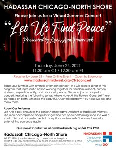 """chitribe CNS """"Let Us Find Peace: A Virtual Concert"""" presented by Lori Ann Powrozek"""