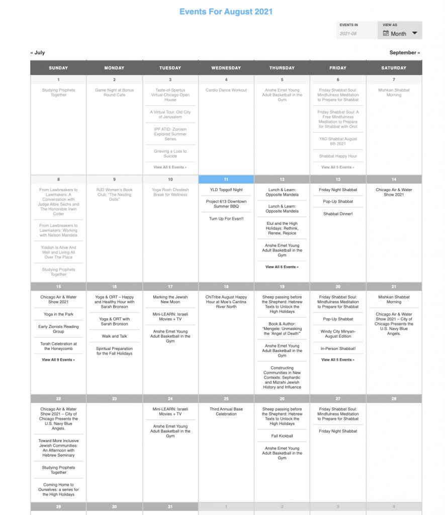 chitribe calendar